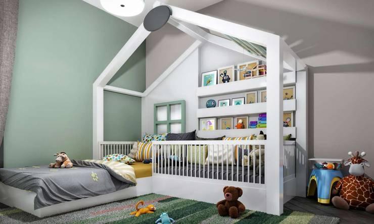 VERO CONCEPT MİMARLIK – Kalafatoğlu Villa İç Mekan:  tarz Çocuk Odası
