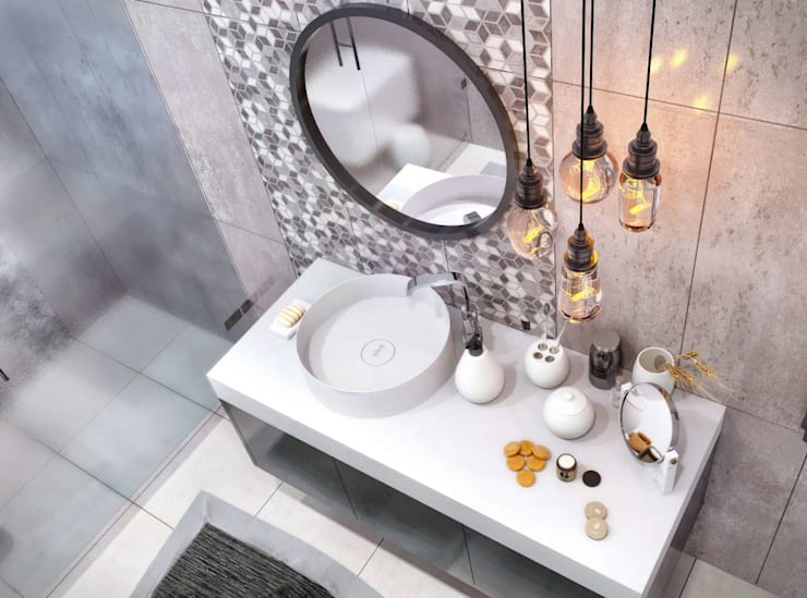 VERO CONCEPT MİMARLIK – Kalafatoğlu Villa İç Mekan:  tarz Banyo