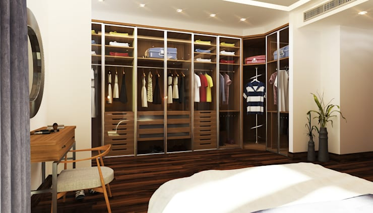 Master Bedroom - Dressing:  غرفة الملابس تنفيذ SIGMA Designs