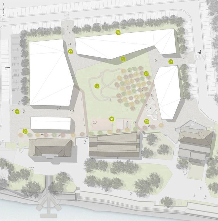 La corte del benessere Giardino moderno di atelier architettura Moderno