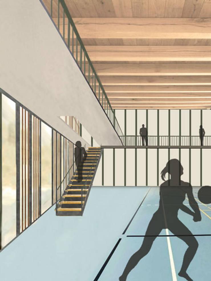 La corte del benessere Palestra in stile moderno di atelier architettura Moderno