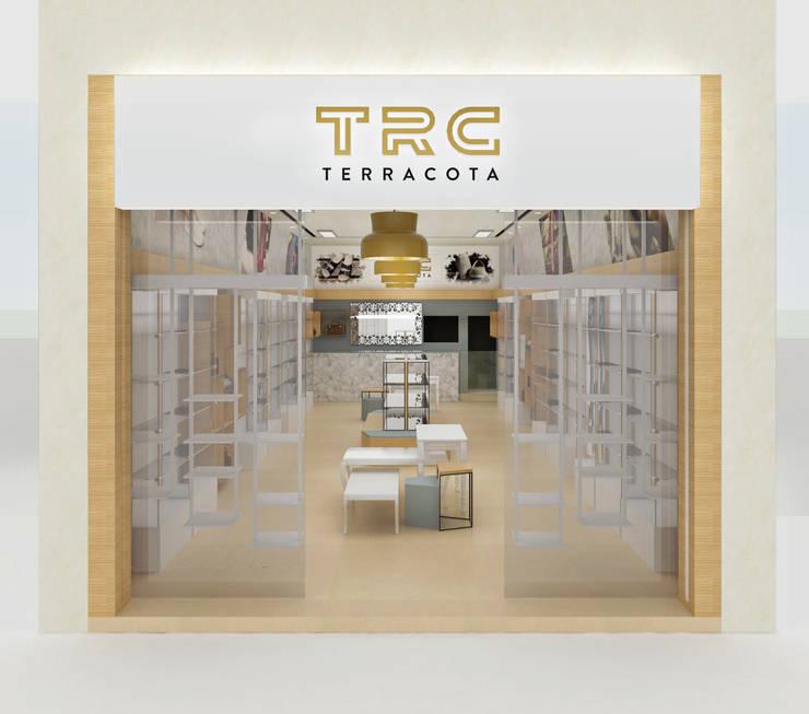 CALZADOS TERRACOTA: Espacios comerciales de estilo  por Espacio Arual