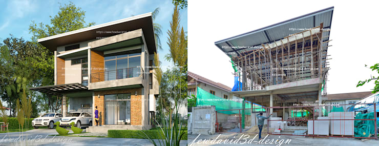 Rumah tinggal  by fewdavid3d-design