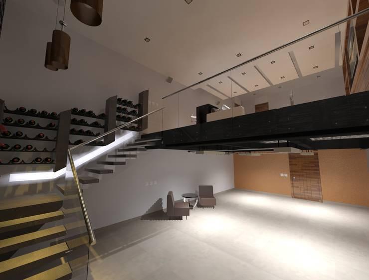 Лестницы в . Автор – CESAR MONCADA S, Модерн