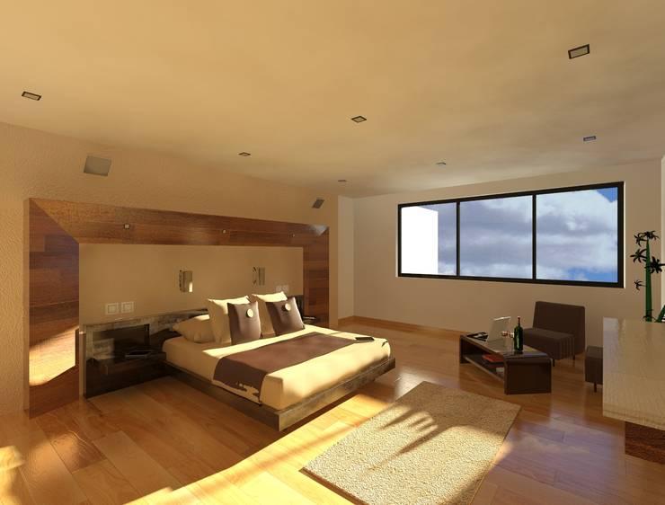 Bedroom by CESAR MONCADA S, Modern