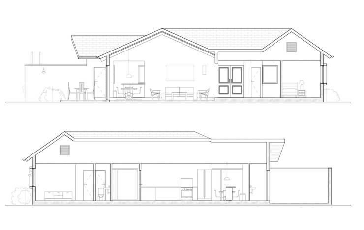 Casa Kuzmanic:  de estilo  por AtelierStudio