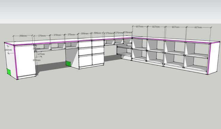Diseño y armado de sector de trabajo: Estudio de estilo  por Gigante ::: Estudio de Arquitectura