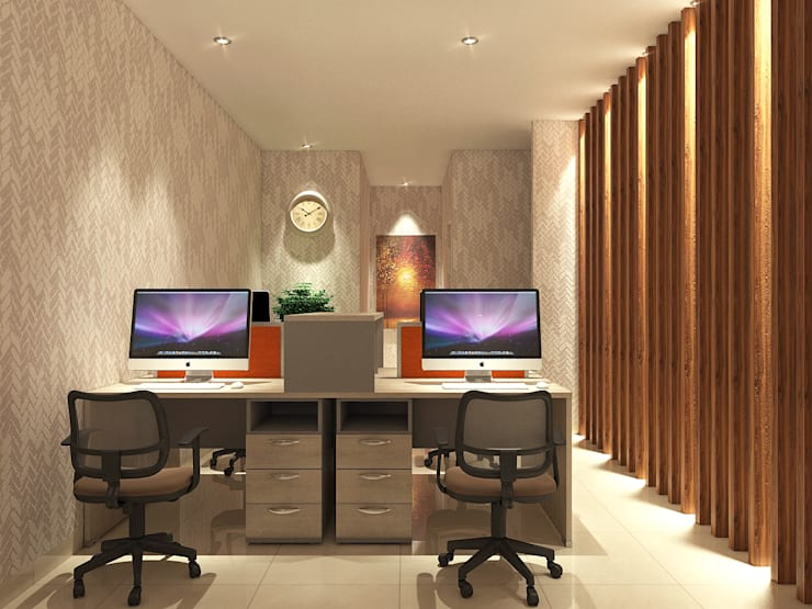COMPACT & EFFICIENT OFFICE @ GREENLAKE CITY, TANGERANG:  Kantor & toko by PT. Dekorasi Hunian Indonesia (DHI)