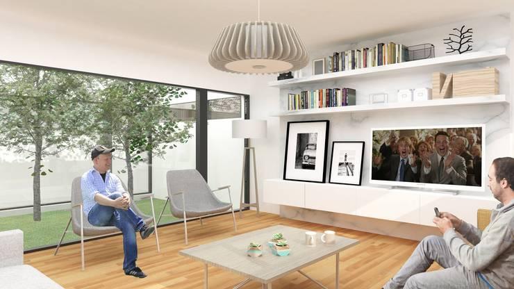 CASA M: Casas de estilo  por DDBB Arquitectos,