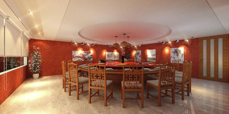 EFFICIENTLY BEAUTIFUL CANTEEN @ CENTRAL JAKARTA:  Kantor & toko by PT. Dekorasi Hunian Indonesia (DHI)