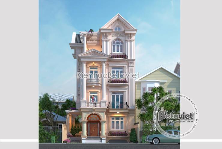 Phối cảnh mẫu thiết kế biệt thự kiểu Pháp 4 tầng đẹp (CĐT: Ông Hùng - Sài Gòn) KT17081:   by Công Ty CP Kiến Trúc và Xây Dựng Betaviet