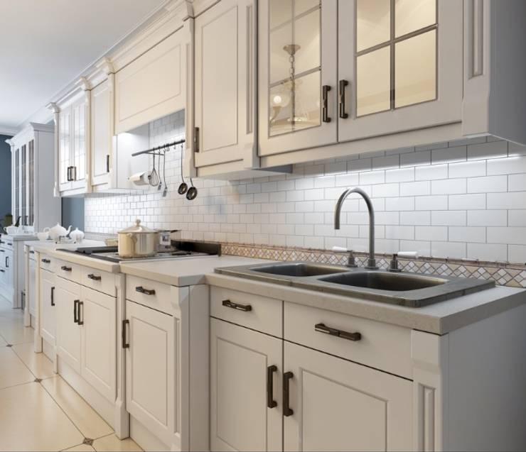 White Matt Kitchen:  Kitchen units by Rebel Designs
