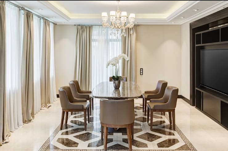 Dining Area :  Dining room by Rebel Designs