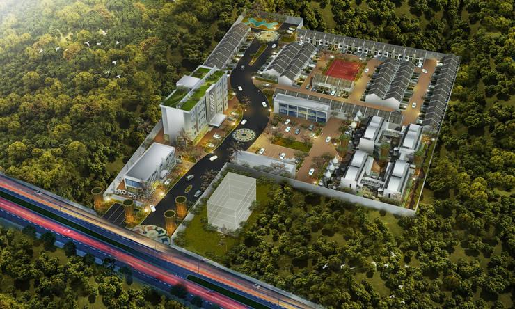3D Modelling Aero City Lampung:   by CAA Architect