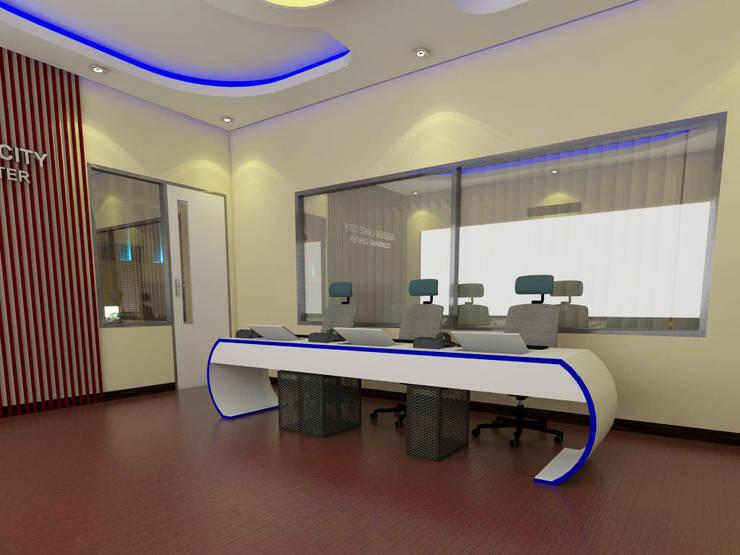 Command Center Kantor Pengelola Green Lake City:  Gedung perkantoran by CAA Architect