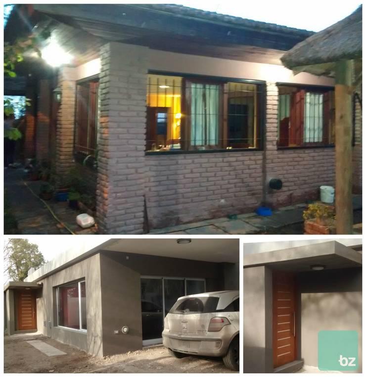 Antes & después: Casas unifamiliares de estilo  por Arquitectura Bur Zurita