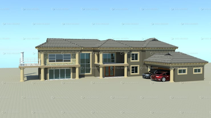 two storey house design:   by COMFORT MAYINGANI ARCHTECTZ