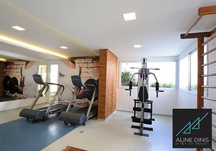صالة الرياضة تنفيذ Aline Dinis Arquitetura de Interiores