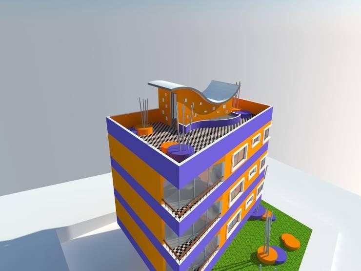 1: Viviendas colectivas de estilo  por OMD Arquitectos
