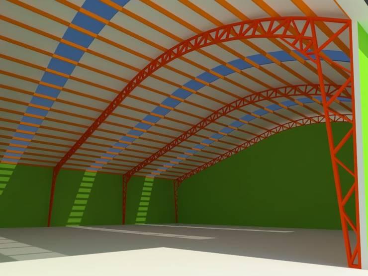 Projekty,  Przestrzenie biurowe i magazynowe zaprojektowane przez OMD Arquitectos
