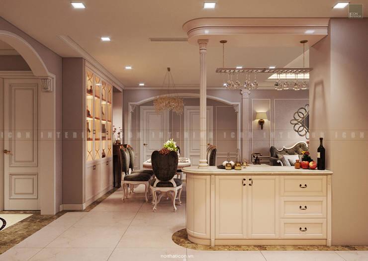 Nội thất căn hộ Vinhomes Central Park – Phong cách Tân Cổ Điển:  Phòng ăn by ICON INTERIOR