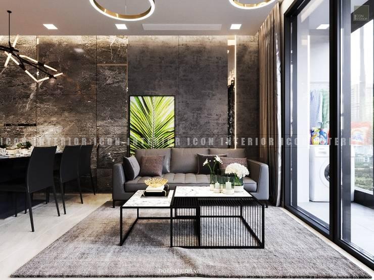 Nội thất căn hộ Vinhomes Golden River - Tòa Aqua:  Phòng khách by ICON INTERIOR