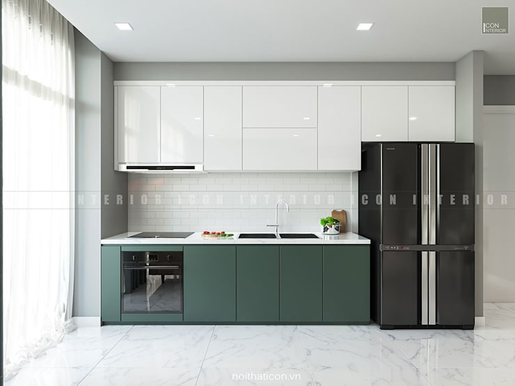 Nội thất căn hộ Vinhomes Ba Son – ICON INTERIOR:  Nhà bếp by ICON INTERIOR