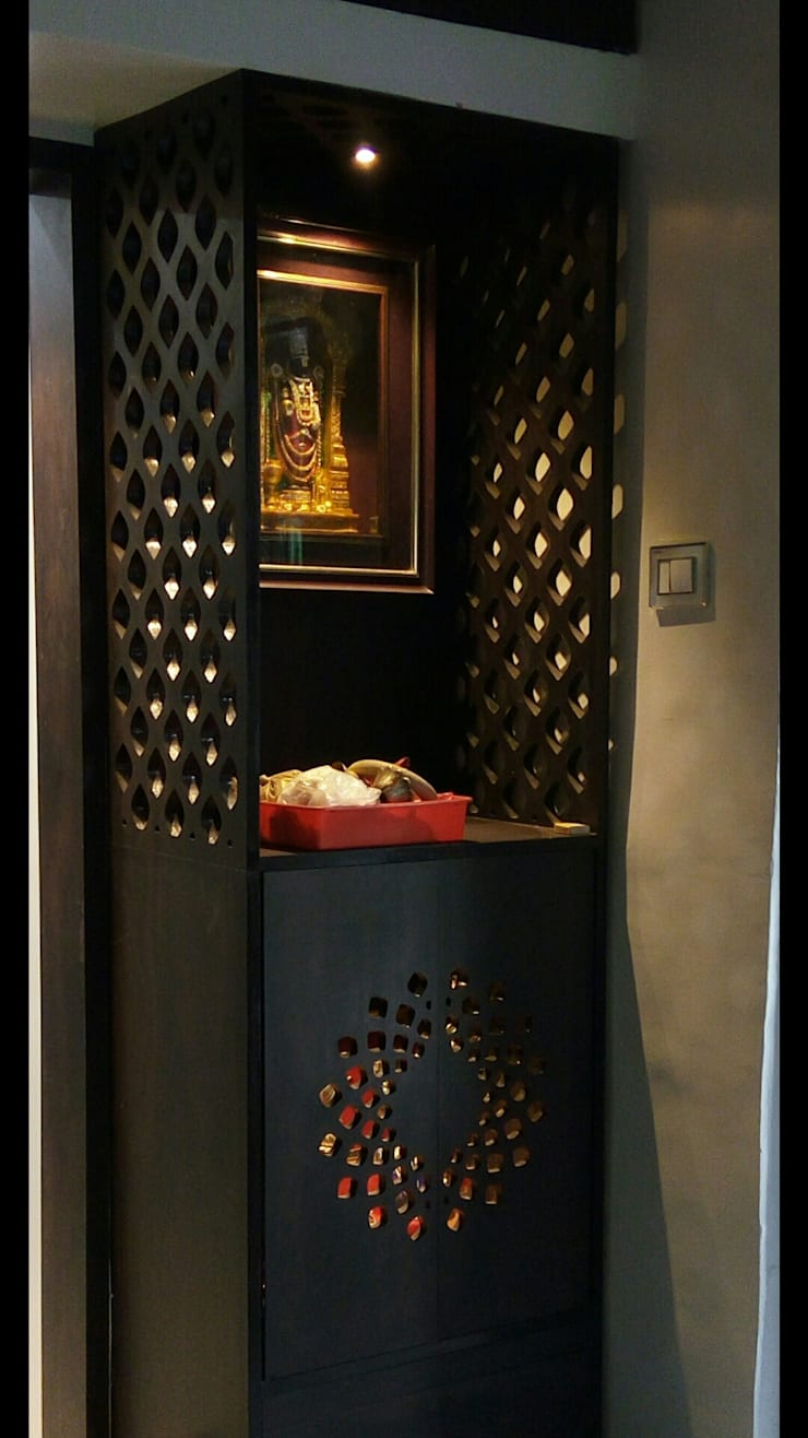 Mandir, Temple, Alter :  Artwork by Anthem Interiors & Turnkey Solutions