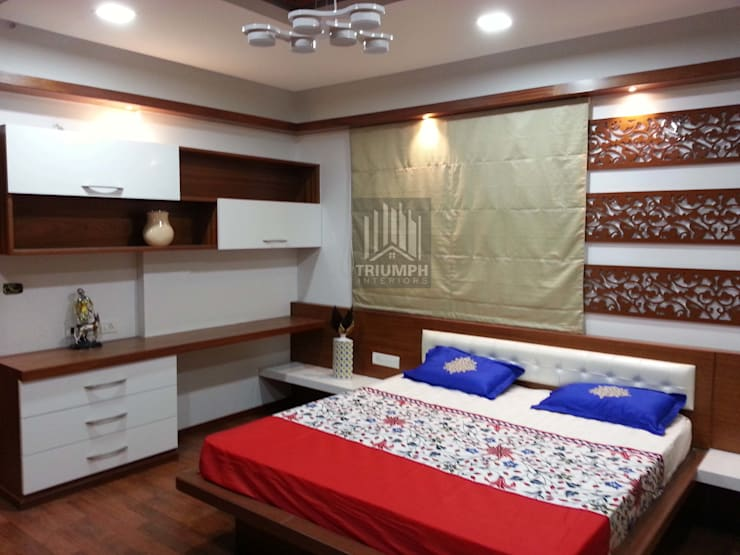Kidsbed Room Bed & study: modern Bedroom by TRIUMPH INTERIORS