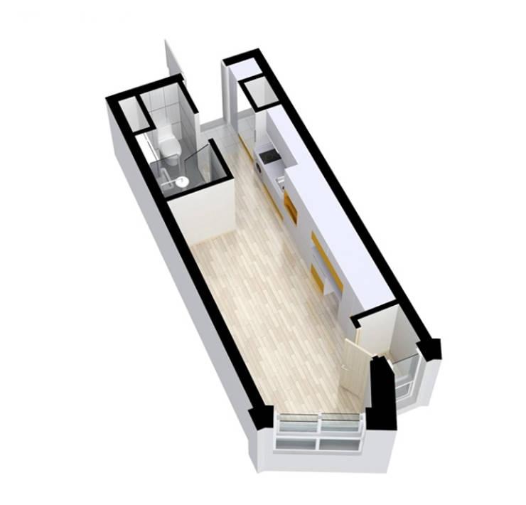 안산 센터하임 오피스텔 모델하우스 / D1-Type: 에이프릴디아의  다이닝 룸,