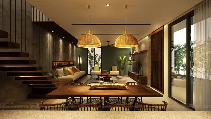 Cầu Giấy House:  Phòng khách by Văn Phòng Kiến Trúc Một Nhà