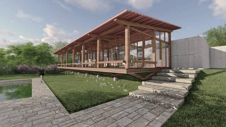 Rumah pedesaan oleh ArqClub - Studio de Arquitetura, Minimalis Kayu Wood effect