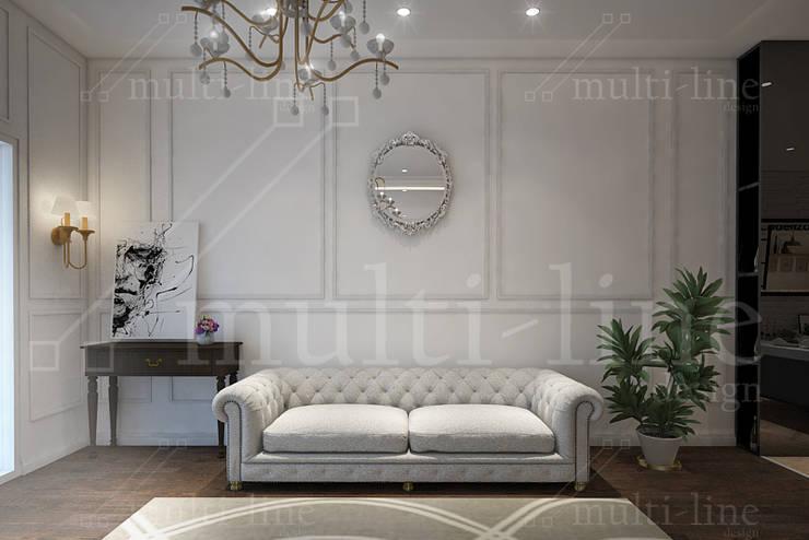 Showroom Sofa:  Kantor & toko by Multiline Design