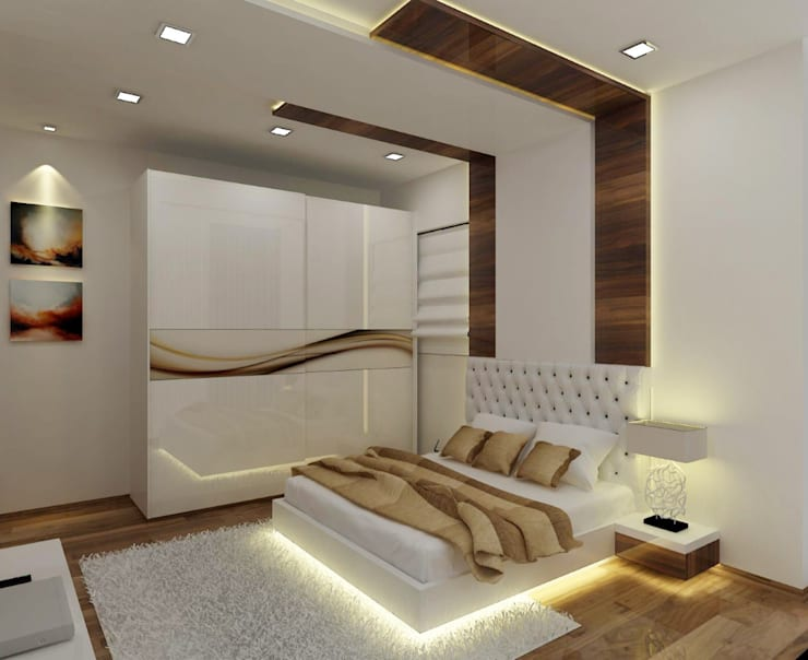 Master Bedroom: modern Bedroom by A Design Studio
