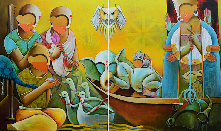 Agamoni: asian  by Indian Art Ideas,Asian
