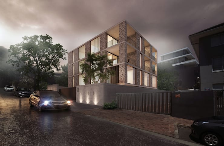 Three Anchor Bay Apartment Block:  Multi-Family house by Kunst Architecture & Interiors, Modern Bricks