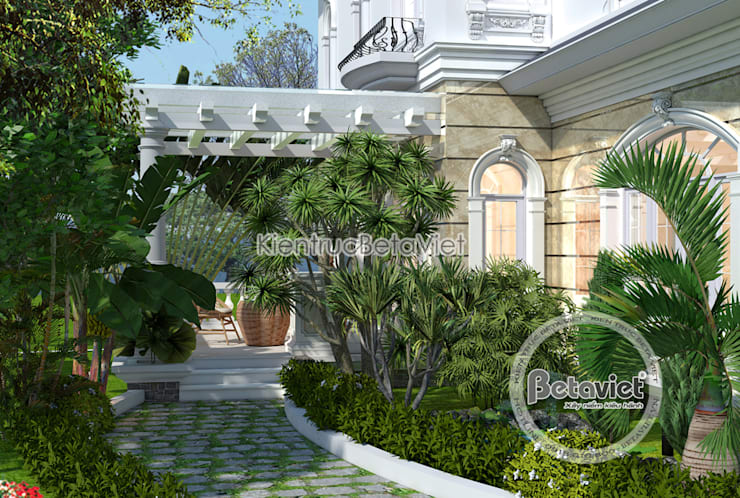 Phối cảnh mẫu biệt thự vườn châu Âu 2 tầng (CĐT: Ông Công - Hà Tĩnh) KT17069A:   by Công Ty CP Kiến Trúc và Xây Dựng Betaviet
