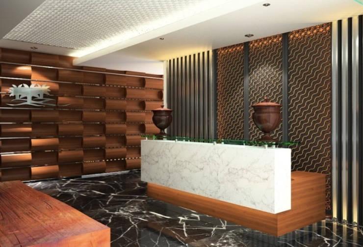 Mr. Suryo Tan's Office:  Gedung perkantoran by ANJARSITEK