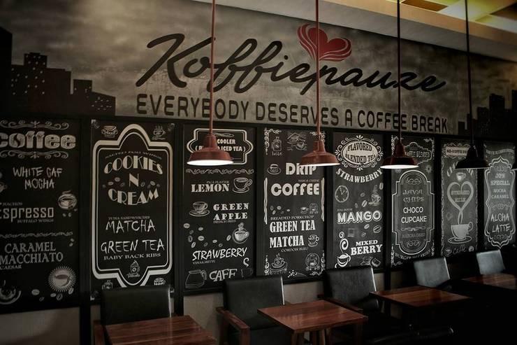 KOFFIEPAUZE:  Bars & clubs by Benson Sioco Interior Design