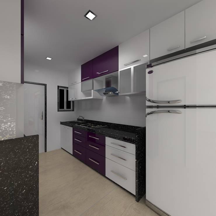 Project:  Kitchen by Manvi kitchen world & Interior solution,Modern
