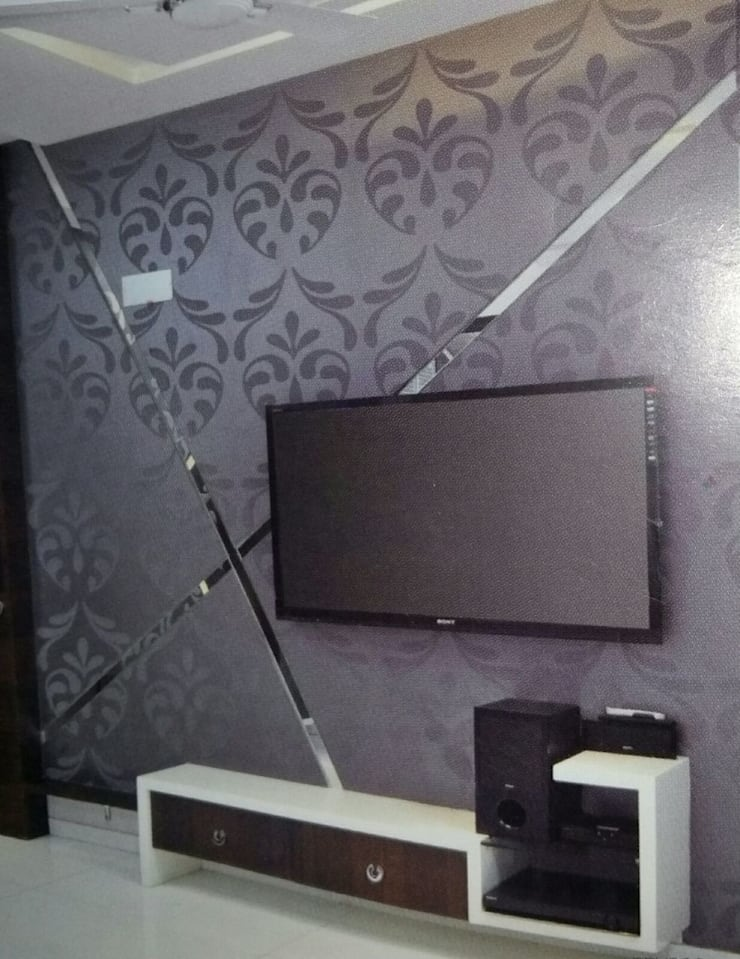 Project:  Media room by Manvi kitchen world & Interior solution,Modern