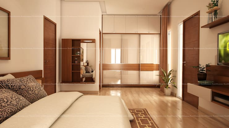 Bedroom designs: modern Dressing room by Fabmodula