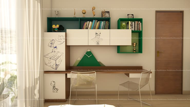 Kid's bedroom designs:  Study/office by Fabmodula