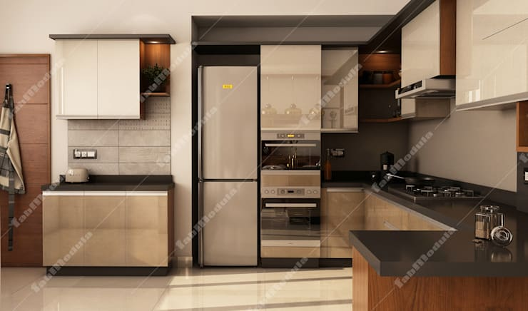 Kitchen designs: modern Kitchen by Fabmodula