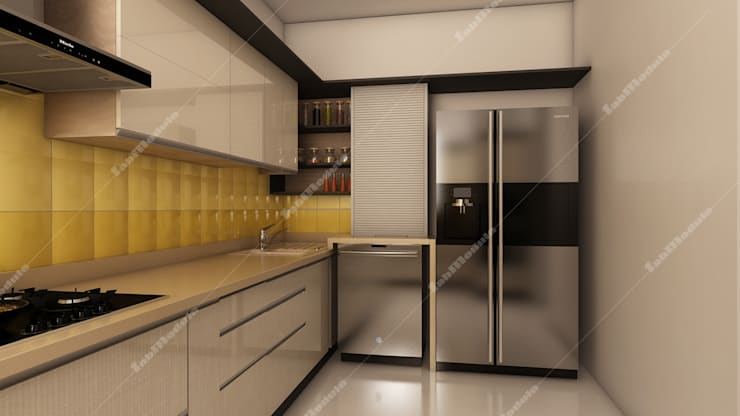 Kitchen designs: modern Kitchen by Fabmodula