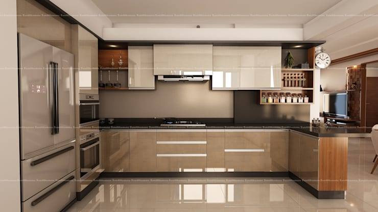 Kitchen designs:  Kitchen by Fabmodula,Modern