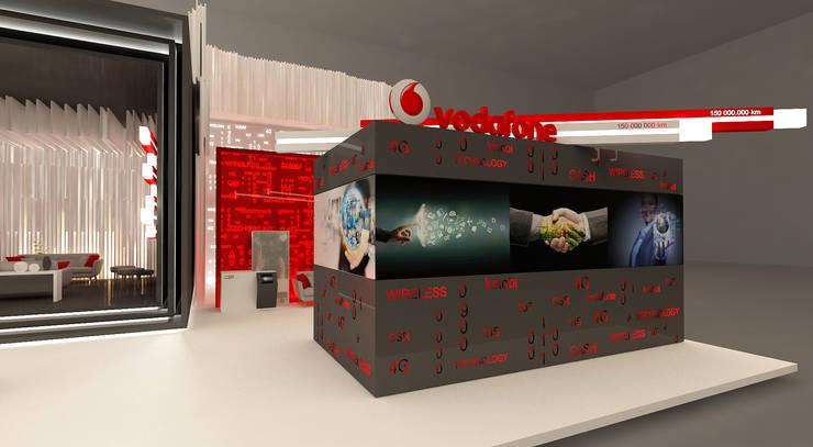 Vodafone booth:   تنفيذ Lines Studios