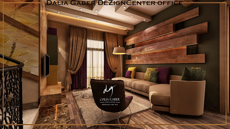 by Dalia Gaber ,Modern livingroom :  غرفة المعيشة تنفيذ DeZign center office by Dalia Gaber ,