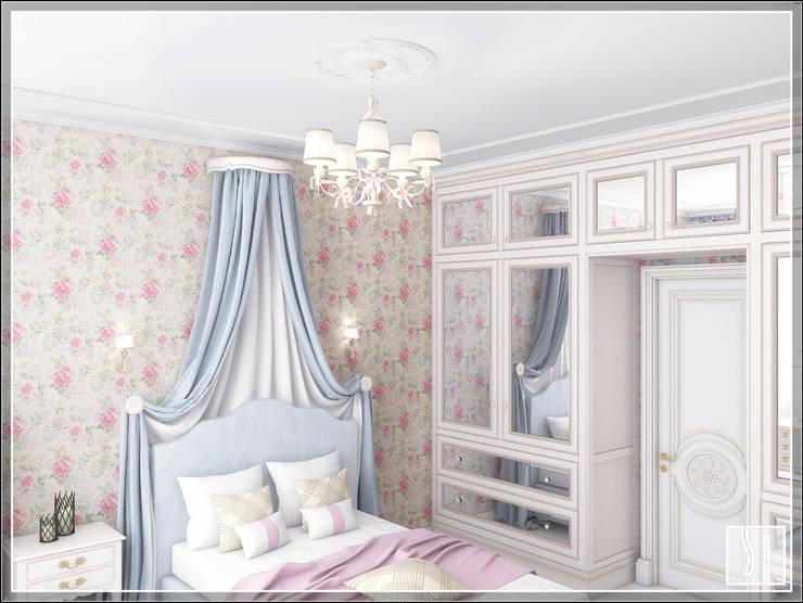 غرفة نوم بنات تنفيذ Студия дизайна Светланы Исаевой