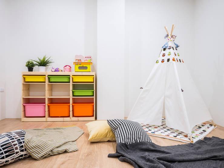 員林江公館:  嬰兒房/兒童房 by 築本國際設計有限公司